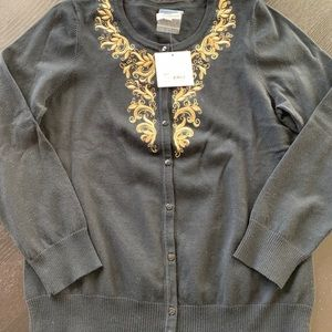 NWT $50 Croft And Barrow Cardigan Size M.